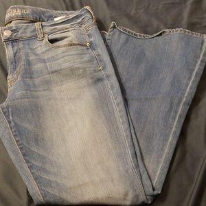 Women's American eagle boho flare leg jeans